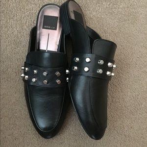 Dolce Vita Black Leather Mule